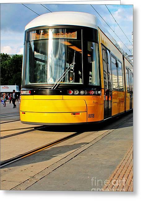 Chris Evans Greeting Cards - Berlin Tram Greeting Card by Chris Evans