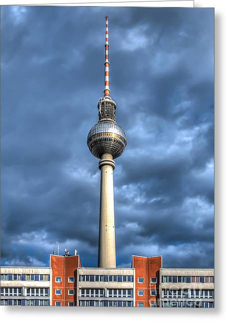 Deutschland Greeting Cards - Berlin - TV Tower Greeting Card by ARTSHOT  - Photographic Art