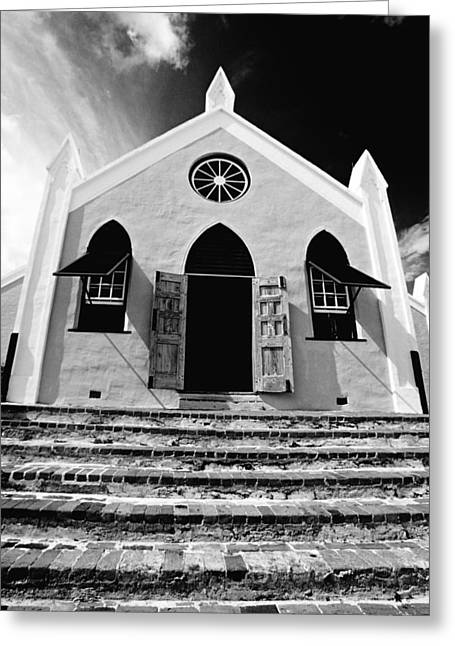 Louver Greeting Cards - Bermuda Church Greeting Card by George Oze