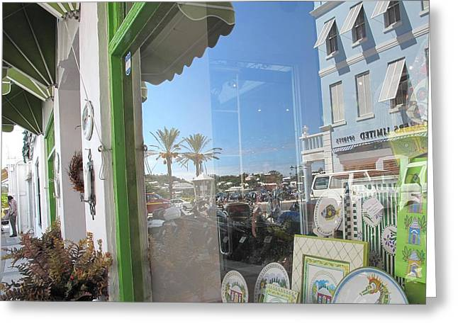 Store Fronts Greeting Cards - Bermuda Reflections Greeting Card by Ian  MacDonald