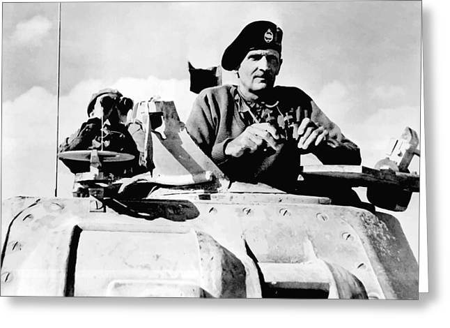 Marshall Greeting Cards - Bernard Law Montgomery Greeting Card by War Is Hell Store