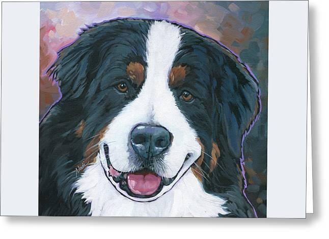 Nadi Spencer Greeting Cards - Bernese Mountain Dog kona Greeting Card by Nadi Spencer
