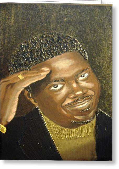 Keenya Woods Mixed Media Greeting Cards - Bernie Mac- The Mac Man Greeting Card by Keenya  Woods