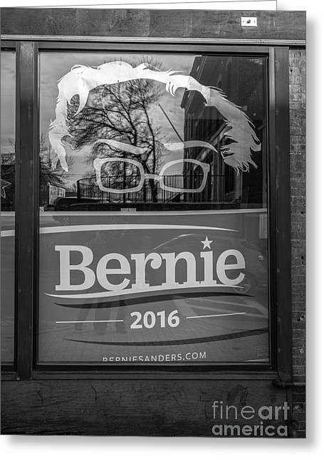 Bernie Sanders Claremont New Hampshire Headquarters Greeting Card by Edward Fielding