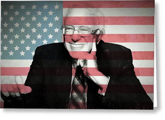 Bernie Sanders Greeting Card by Dan Sproul