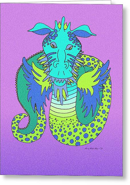 Fantasty Greeting Cards - Bernie the Dragon Greeting Card by Sherry Holder Hunt
