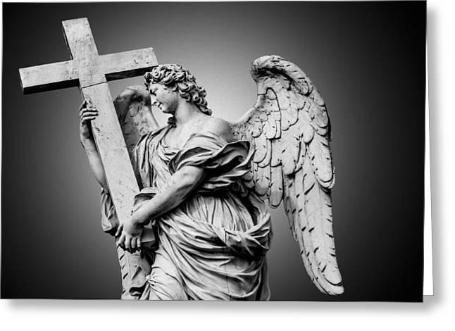 Bernini's Statue Of Angel Greeting Card by Erik Brede