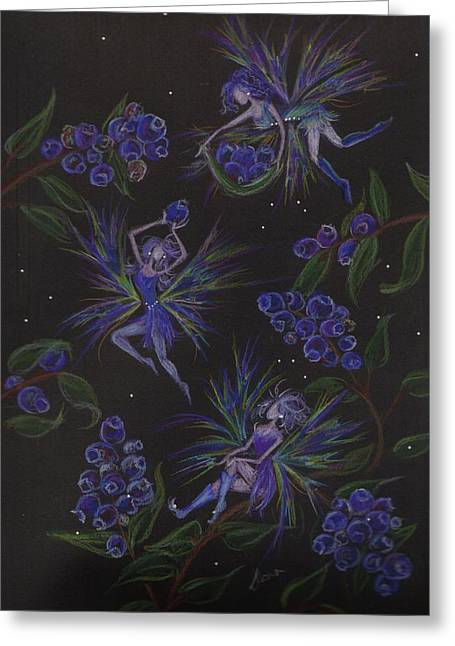 Wildfowers Greeting Cards - Berry Blues Greeting Card by Dawn Fairies