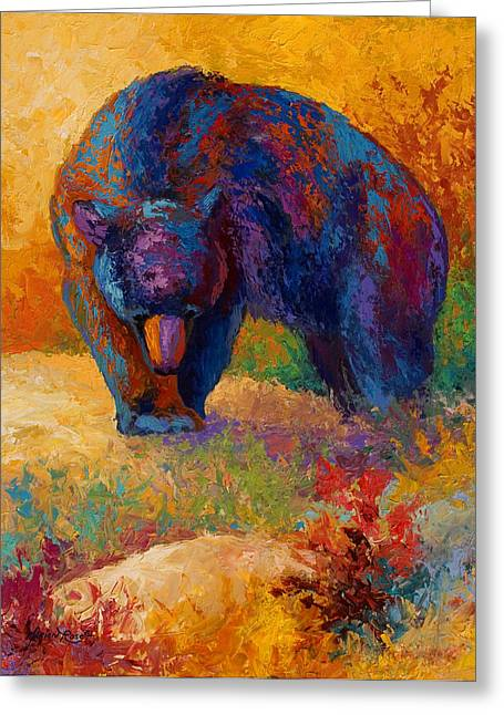 Alaska Greeting Cards - Berry Hunting Greeting Card by Marion Rose