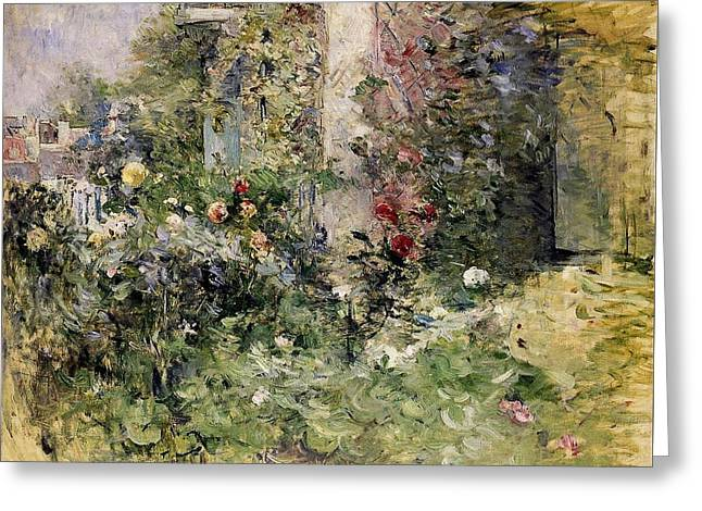 Berthe Morisot Jardin A Bougival The Garden At Bougival Greeting Card by MotionAge Designs