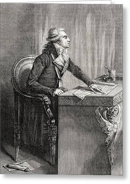 Desk Drawings Greeting Cards - Bertrand Barere De Vieuzac, 1755-1841 Greeting Card by Ken Welsh
