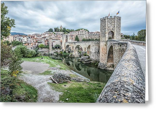 Besalu A Medieval Village, Catalonia Greeting Card by Marc Garrido