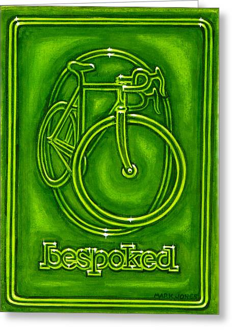 Bespoked In Lime  Greeting Card by Mark Howard Jones