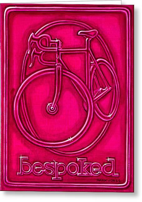Bespoked In Raspberry  Greeting Card by Mark Howard Jones