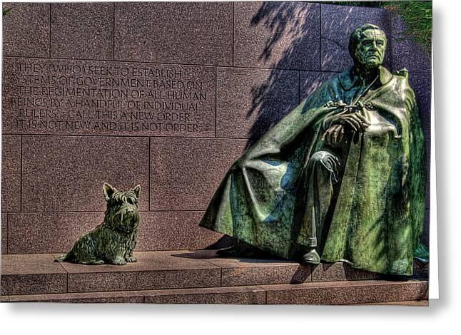 Franklin Roosevelt Digital Art Greeting Cards - Best Friends Forever Greeting Card by Don Lovett