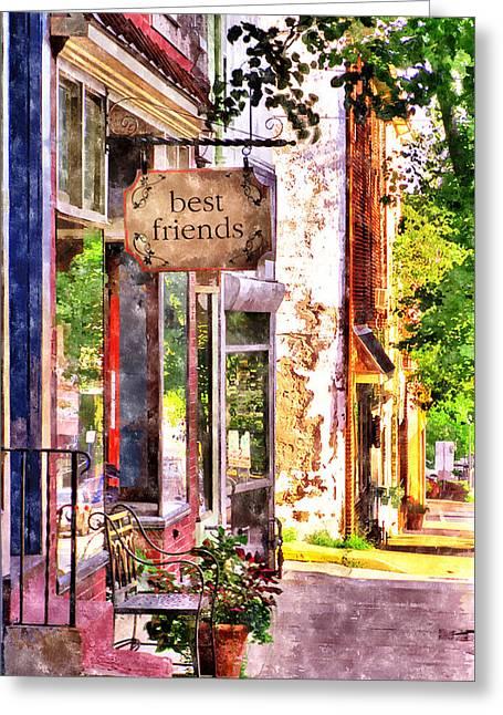 Best Friend Digital Art Greeting Cards - Best Friends Greeting Card by Rick Mosher