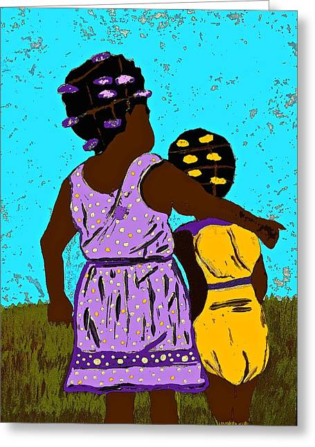 Best Friend Greeting Cards - Best Friends Greeting Card by Saundra Myles