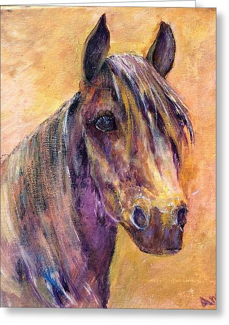 Pallet Knife Greeting Cards - Best Horse Friend Greeting Card by Ann Wall