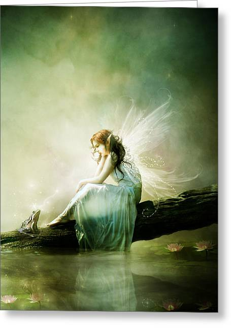 Fairy Greeting Cards - Best of Friends Greeting Card by Karen K