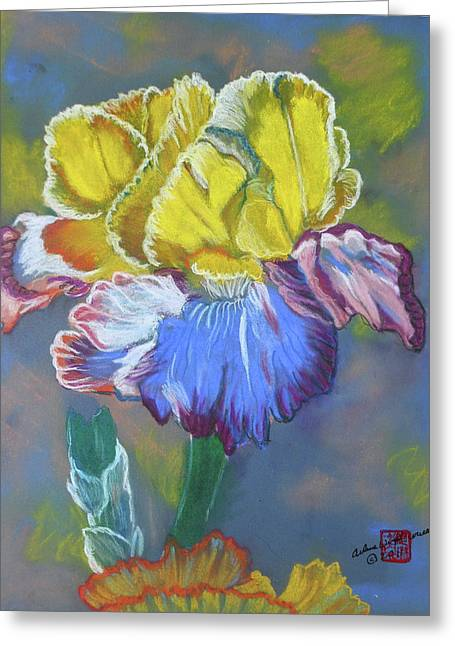Iris Pastels Greeting Cards - Best of Show Greeting Card by Arlene  Wright-Correll