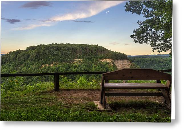Park Benches Greeting Cards - Best Seat In The House Greeting Card by Mark Papke
