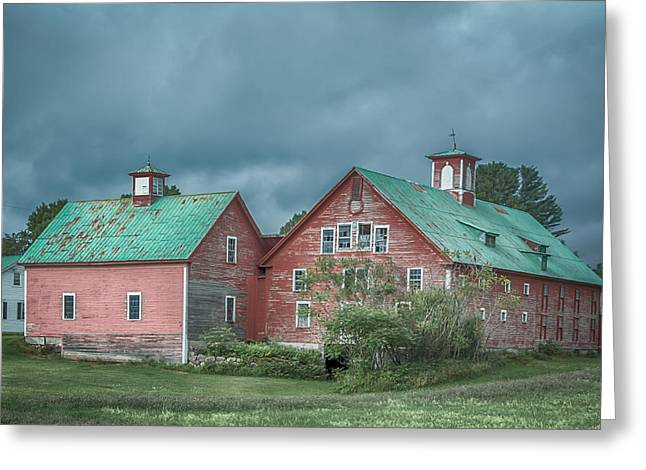 Maine Farmhouse Greeting Cards - Bethel Barn Greeting Card by Guy Whiteley