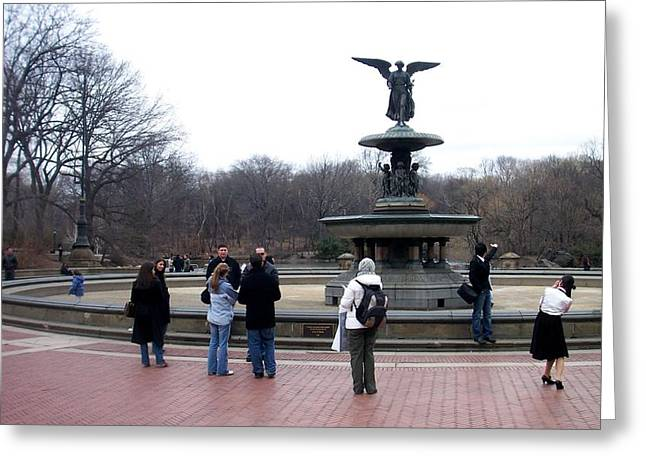 Bethesda Fountain Greeting Cards - Bethesda Fountain Greeting Card by Anita Burgermeister