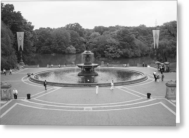 Bethesda Fountain Greeting Cards - Bethesda Fountain Central Park New York Greeting Card by Christopher Kirby