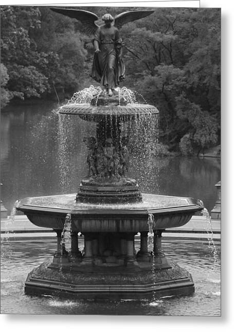 Bethesda Fountain Greeting Cards - Bethesda Fountain Greeting Card by Christopher Kirby