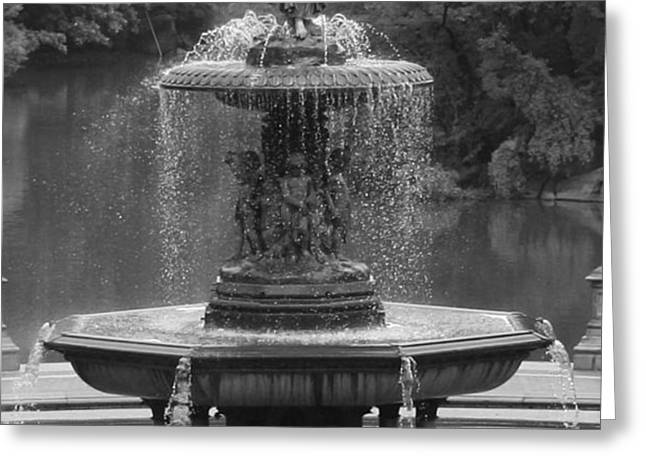 Bethesda Fountain Greeting Card by Christopher Kirby