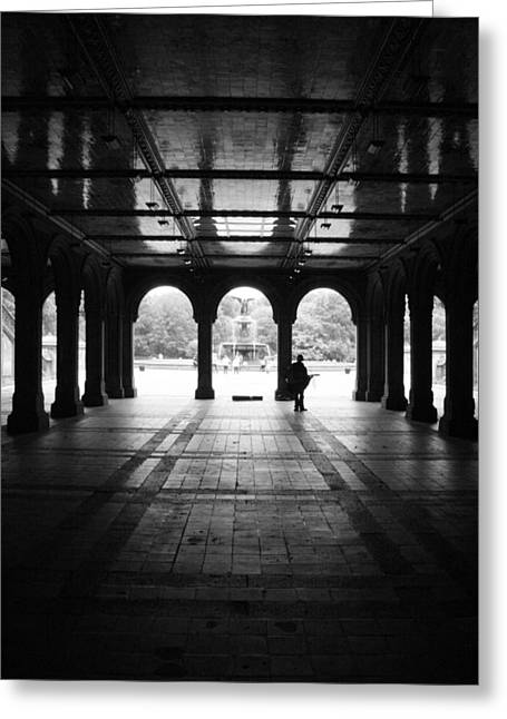 Bethesda Fountain Greeting Cards - Bethesda Fountain Tunnel  Greeting Card by Christopher Kirby