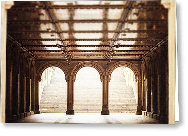 Lisa Russo Greeting Cards - Bethesda Terrace in Color Greeting Card by Lisa Russo