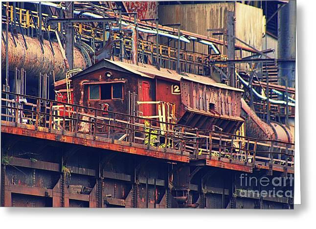 Power Plants Greeting Cards - Bethlehem Steel #10 Greeting Card by Marcia Lee Jones
