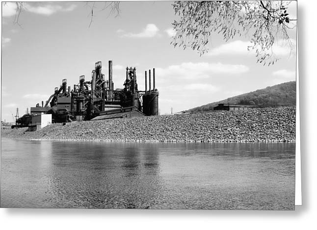 Bethlehem Steel Greeting Card by Michael Dorn