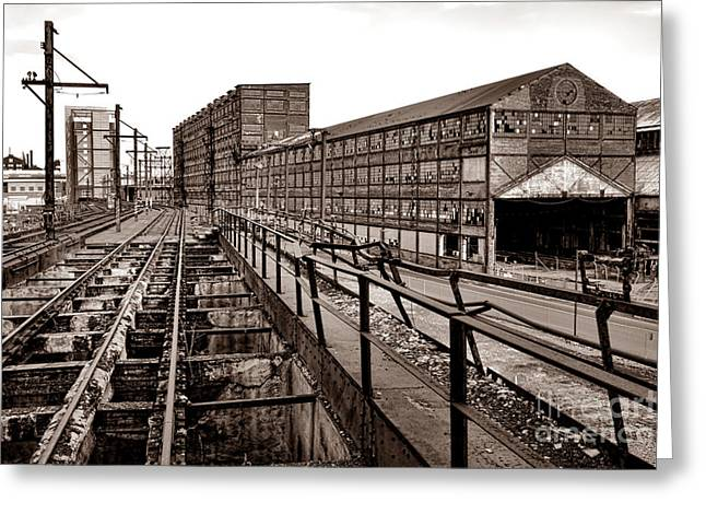 Bethlehem Steel Number Two Machine Shop Greeting Card by Olivier Le Queinec