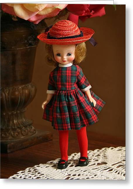 Betsy Doll Greeting Card by Marna Edwards Flavell