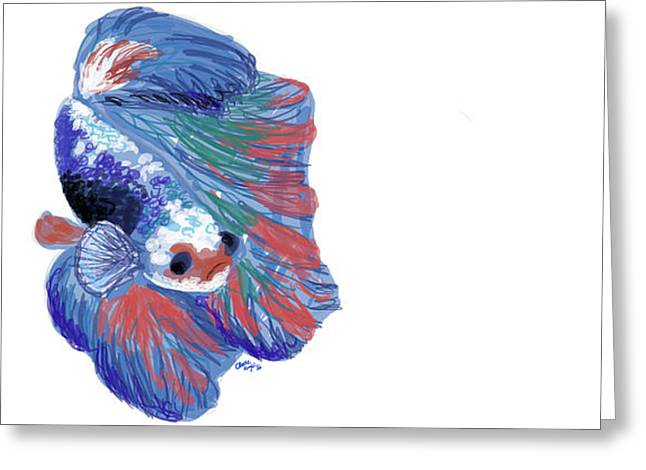 Betta Fish Greeting Card by Claire Kemp