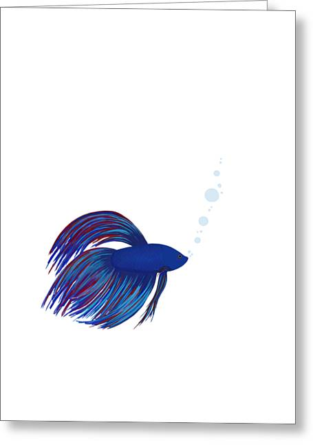 Betta Fish Greeting Card by Shara Lee