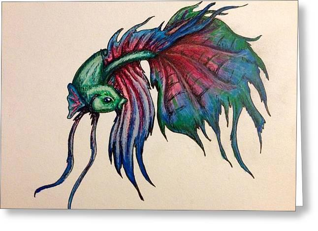 Betta Fish Greeting Card by Kayleigh Carroll