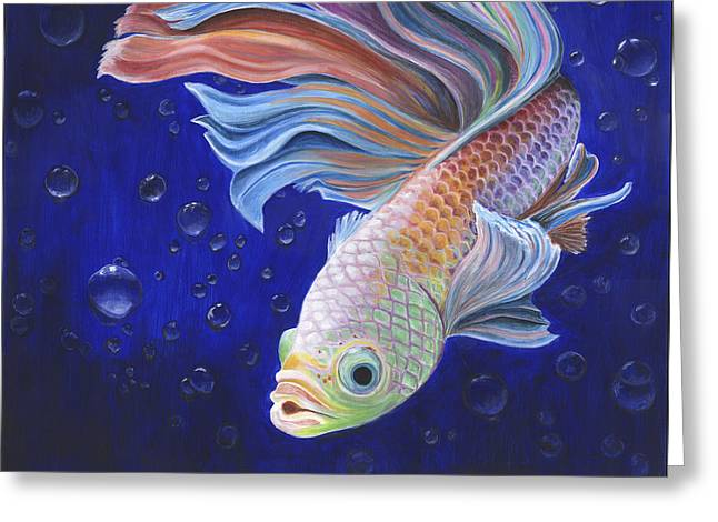 Betta Greeting Cards - Betta Greeting Card by Mary Compton