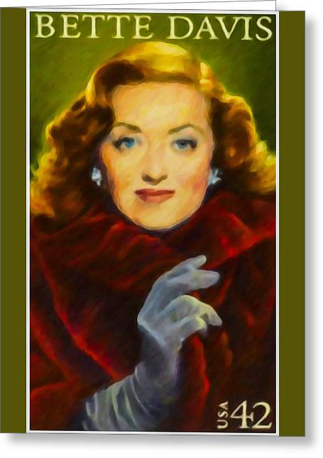 Recently Sold -  - Theater Greeting Cards - Bette Davis Greeting Card by Lanjee Chee