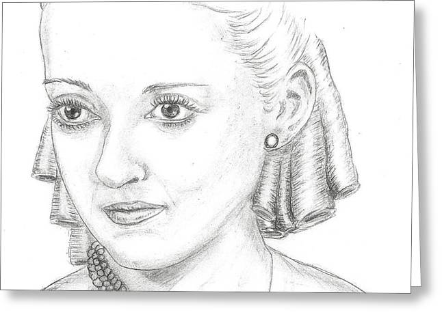 Recently Sold -  - Steven White Greeting Cards - Bette Davis Greeting Card by Steven White