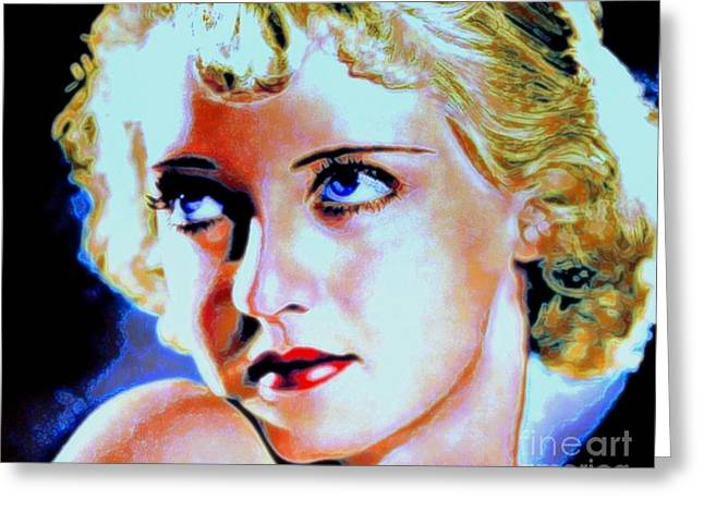 Classic Hollywood Mixed Media Greeting Cards - Bette Greeting Card by Wbk