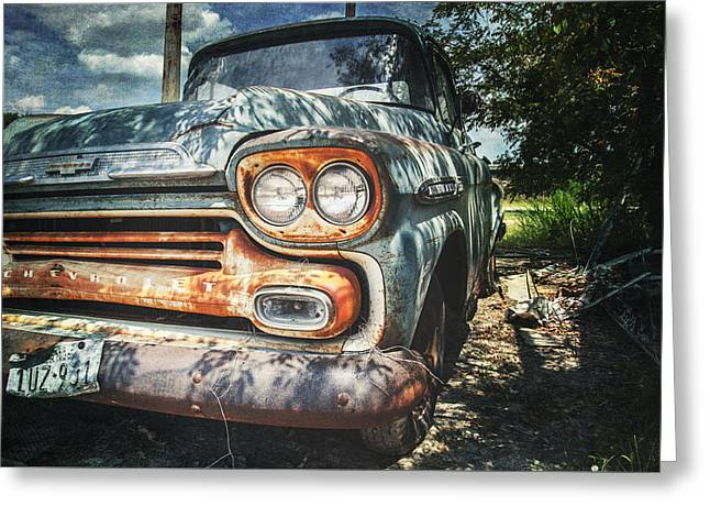 Rusted Cars Greeting Cards - Better Days 2 Greeting Card by Jeff Mize