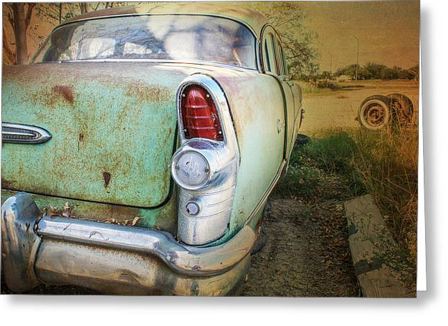 Rusted Cars Greeting Cards - Better Days Greeting Card by Jeff Mize
