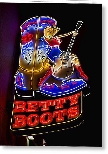 Betty Boots Greeting Card by Stephen Stookey