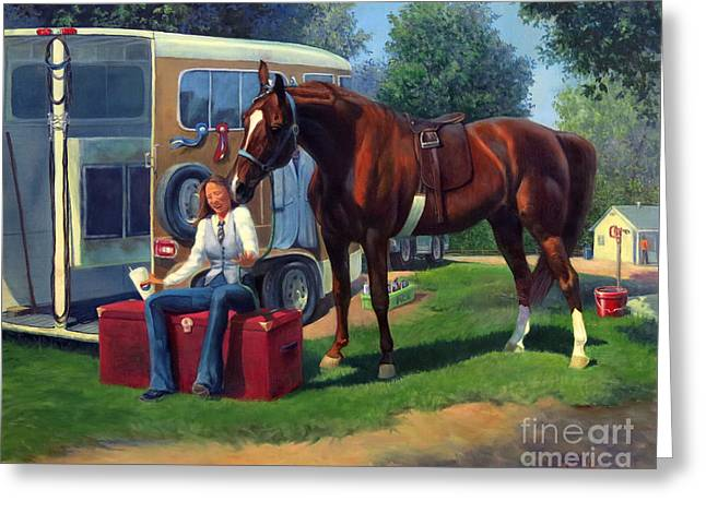American Saddlebred Greeting Cards - Pepsi Please Greeting Card by Jeanne Newton Schoborg