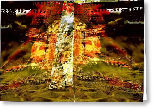 Abstract Digital Digital Greeting Cards - Between film frames Greeting Card by Art Di