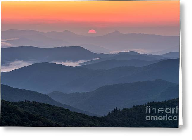 Sun Peaks Greeting Cards - Between Hawksbill and Table Rock Greeting Card by Anthony Heflin
