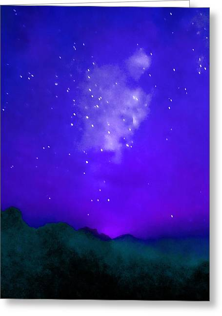 Incarnation Greeting Cards - Starry Night - Zen Greeting Card by Stacey Chiew